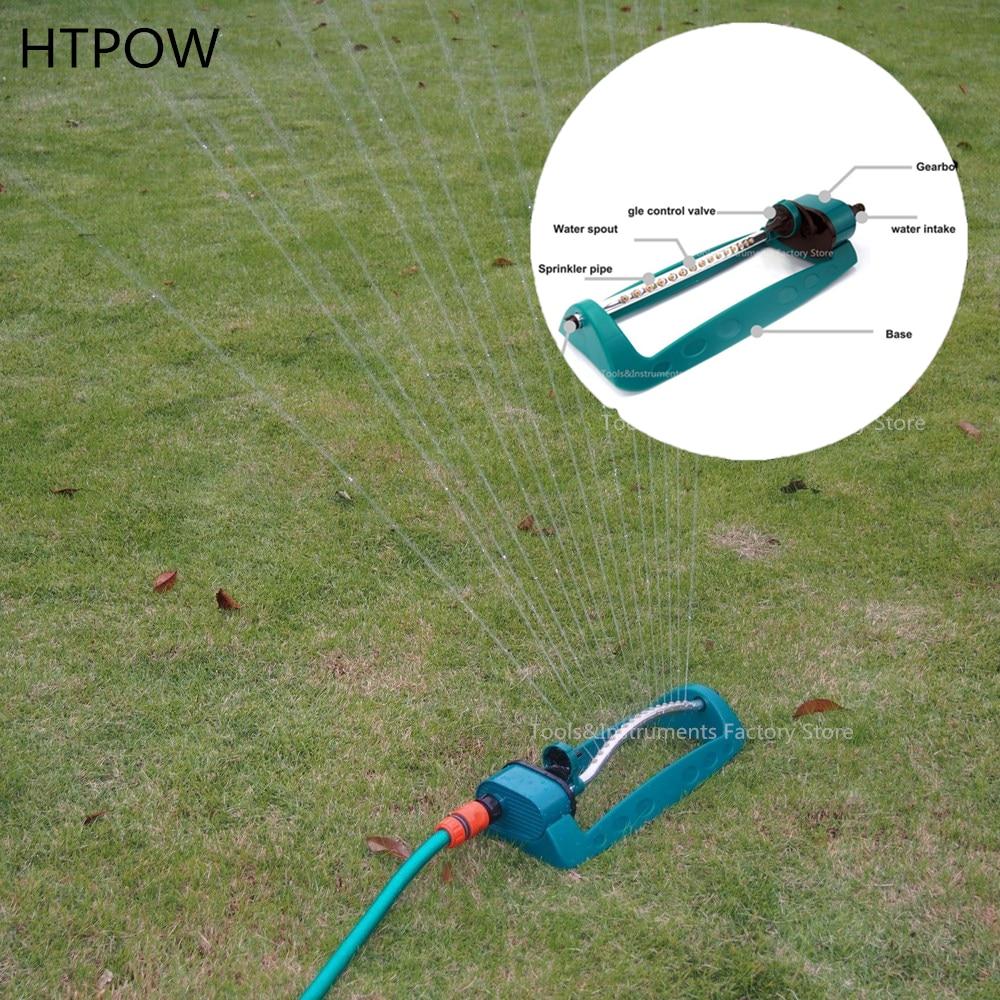 Einstellbare Legierung Wasser Sprinkler Sprayer Automatische Bewässerung Gras Rasen 360 Grad Rotierenden 3 Arme Düse Garten Bewässerung Werkzeug