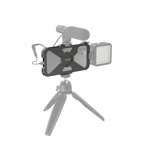 Image 5 - SmallRig Pro נייד כלוב עבור iPhone 11 פרו Vlogging אבזר טלפון נייד כלוב עם קר נעל הר Vlog ערכת ירי 2471