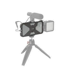 Image 5 - Smallrig pro gaiola móvel para iphone 11 pro vlogging acessório gaiola do telefone móvel com sapata fria montagem vlog jogo de tiro 2471