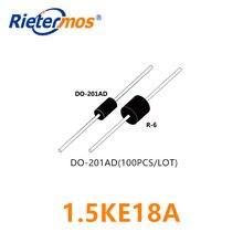 100 sztuk 1.5KE18A 1.5KE18CA DO-201AD wysokiej jakości