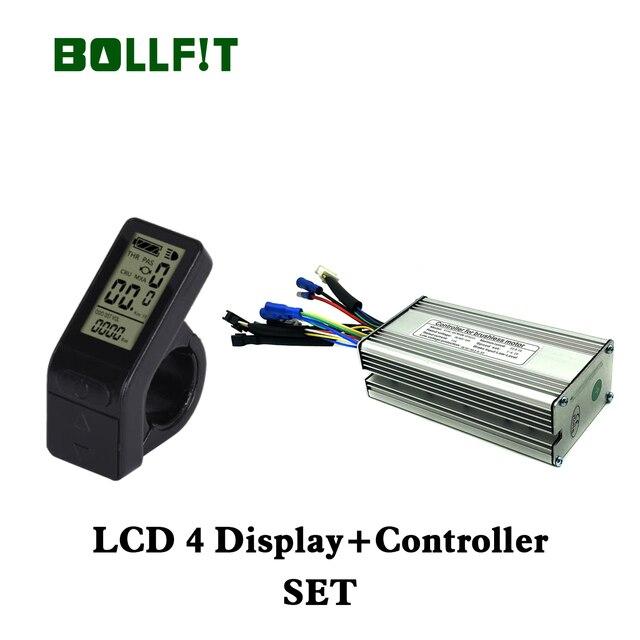 BOLLFIT KT 36V 48V 14A 22A Controller 250W 500W Motor Elektrische Bike Conversion Zubehör mit LCD 4 Display