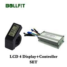 Bollfit kt 36 v 48 v 14a 22a controlador 250 w 500 acessórios de conversão bicicleta elétrica do motor com display lcd 4