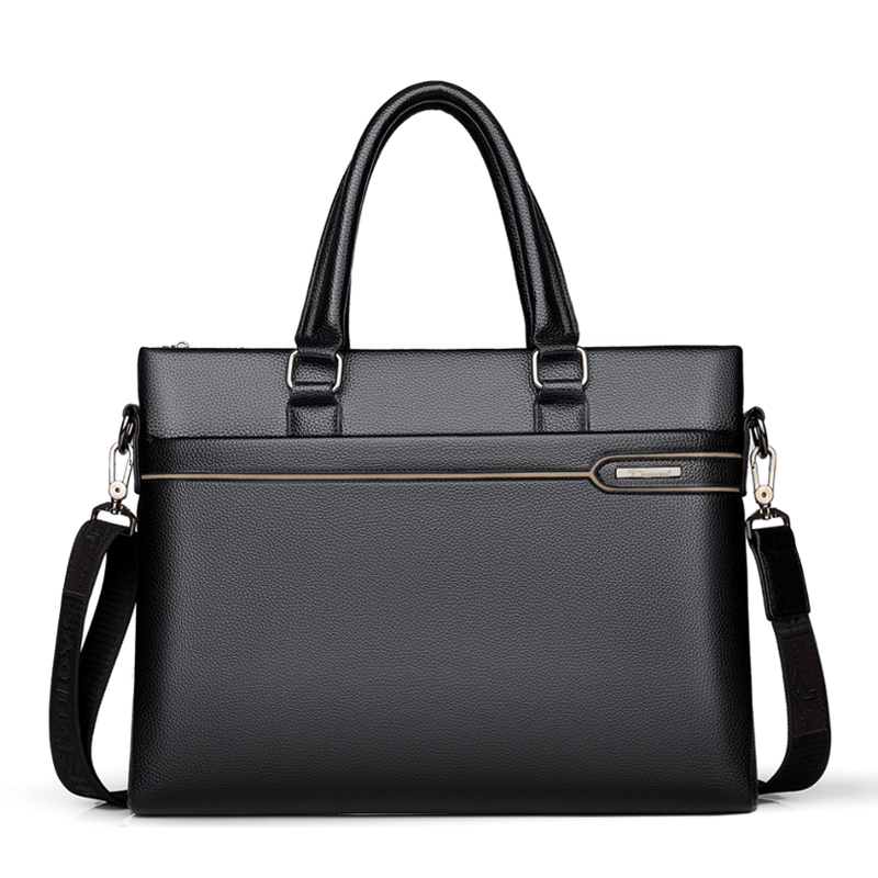 NEW Men's Briefcase PU Leather Shoulder Business Bags Black Bag Men For Document Handbags Man Briefcases Classic Laptop Tote Bag