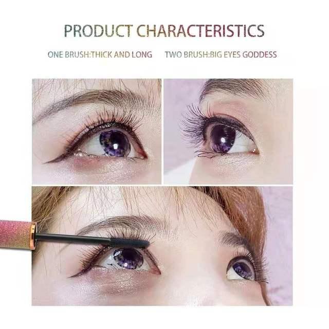 SENANA 4D Silk Fiber Lashes Thick Lengthening Mascara Long Black Lash Eyelash Extension Eye Lashes Brush Makeup Eye Cosmetics 1