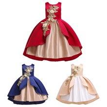 3 цвета, платье принцессы для девочек, повседневное милое платье-пачка для девочек с цветами, Рождественский праздничный костюм, платья для ...