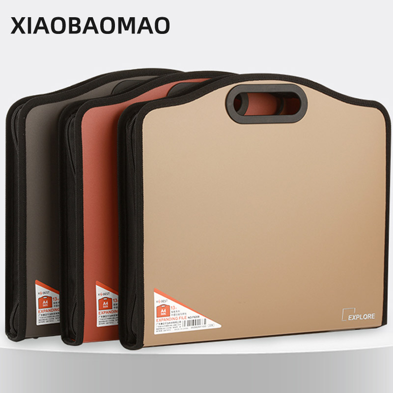 2021 Business Portable 13 Layer A4 Expanding File Folder Bag Document Subject Classificy Organizer Storage Folder Office