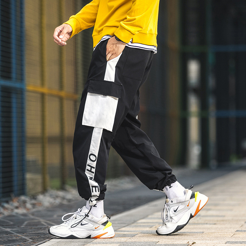 Autumn Bib Overall Men's Loose-Fit Online Celebrity INS Super Fire Trend Hong Kong Style Versatile Casual National Trends Beam L