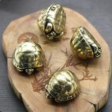 Brass Feng Shui Turtle Figurine Tortoise Statue Home Desktop Ornament Office Decor Fish Tank Accessory DIY