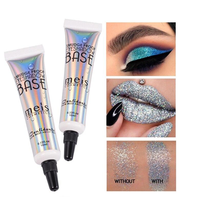 Eyes Makeup Glitter Primer Long Lasting Eyeshadow Primer Cream Eye Shadow Waterproof Eyes Base 10ml Korean Cosmetics