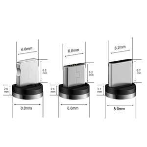 Image 4 - Yuvarlak manyetik fiş mikro USB C/tipi C / 8 Pin iPhone adaptörü için USB mıknatıs şarj tak hızlı şarj (sadece manyetik fiş)