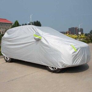 Image 3 - Universal SUV/Sedan Full Car Covers Outdoor Waterproof Sun Rain Snow Protection UV Car Umbrella Silver S XXL Auto Case Cover