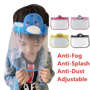 1PC New Child Protective Face Shield Anti-splash Dust Anti Droplet Full Face Cover Mask Adjustable Cute Safety Clear Face Shield(China)