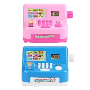 Toy Cash Register Simulated Pretend-Play-Toys Supermarket Small for Children Home-Appliance