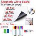 Magnetic Whiteboard Dry Erase White Board Fridge Sticker Information Message Painting Board for School Student Office Kitchen
