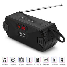 Portable Wireless Bluetooth Speaker FM Radio Outdoor Bass Loudspeaker Subwoofer caixa de som TF USB Column Bluetooth Speakers