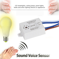 220V Smart Sound Voice Sensor Module Auto ON/OFF Light Switch Module Smart Home For Warehouse Stair NOT Tuya Smart Switch 1