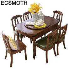 Обеденный Eet Tafel A Langer Meja Makan De Jantar набор Tisch Yemek Masasi деревянный круглый стол