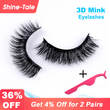 Shine-tale Eyelashes Mink Hair False Lashes Extensions 3D Makeup for Extension Free Shipping A09