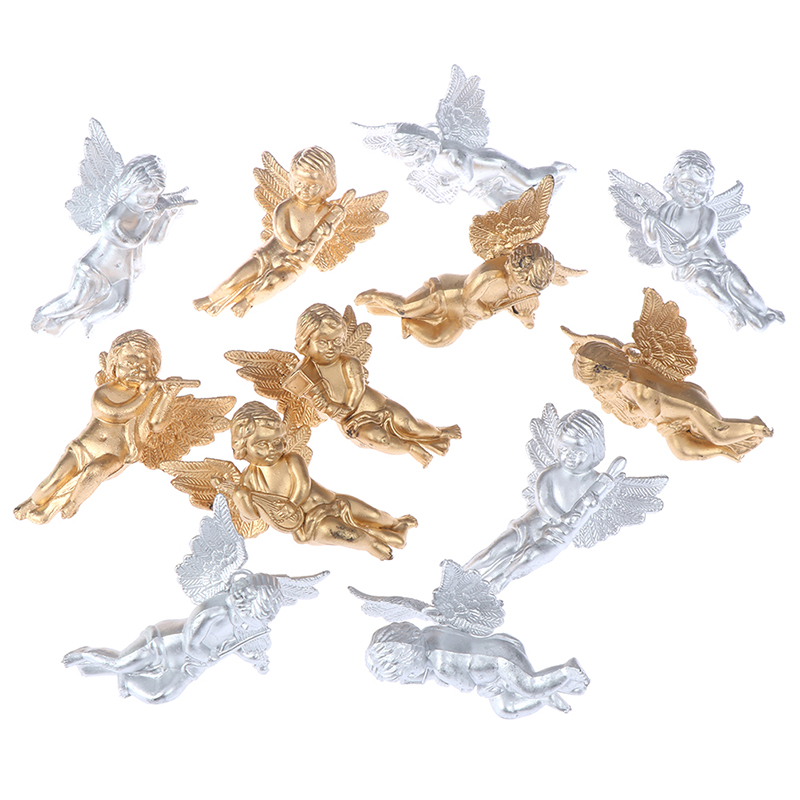 6 Kinds//Bag Angel Shaped Ornament Wings Christmas Tree Xmas Pendants Home Decor