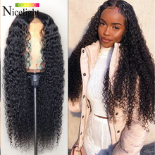 360-Lace-Frontal Wig Human-Hair Water-Wave Nicelight for Black-Women Remy 13x4