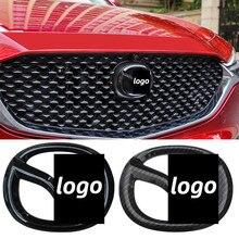 Авто Передняя решетка эмблема на багажник Стикеры для Mazda 6 Atenza CX5 3 Axela CX4 логотип для автомобильного стайлинга эмблема Углеродные волоконные...