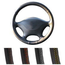Customized Car Steering Wheel Cover For Mercedes Benz W639 Viano 2006-2011/Vito 2010-2015/VW Crafter 2016 Leather Steering Wrap