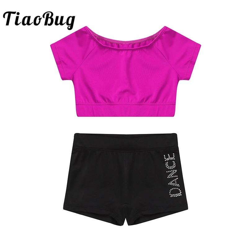 TiaoBug 2PCS Toddler Kids Girls Summer Short Set Clothes Sleeveless Zippered Crop Top with Ruffled Bottoms Dancewear Outfits
