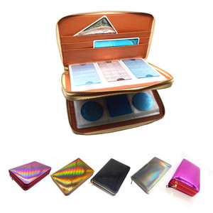 Image 1 - 216Slots Nail Stamping Plate Holder Rainbow Laser Design Round Square Rectangular Manicure Nail Art Plate Organizer Empty Case