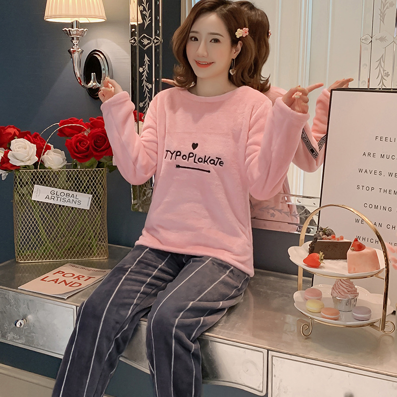 Betyline 2019 New Winter Pajamas For Women Sleepwear Warm Flannel Long Sleeves Pajamas Cute Animal Homewear Thick Homewear 148
