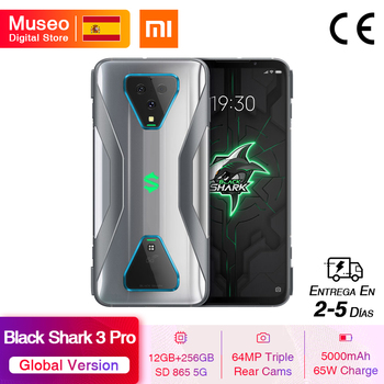 Купить Глобальная версия Xiaomi Черная Акула 3 Pro 5G Snapdragon 865 12 Гб 256 игры телефон Octa Core 64MP камерами 65 Вт 5000 мА-ч
