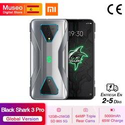 Глобальная версия Xiaomi Черная Акула 3 Pro 5G Snapdragon 865 12 Гб 256 игры телефон Octa Core 64MP камерами 65 Вт 5000 мА-ч