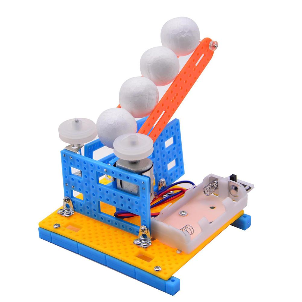 DIY Automatic Ball Pitching Machine Toy School Education Science Project Model Great Value In Inspiring Children's Interest