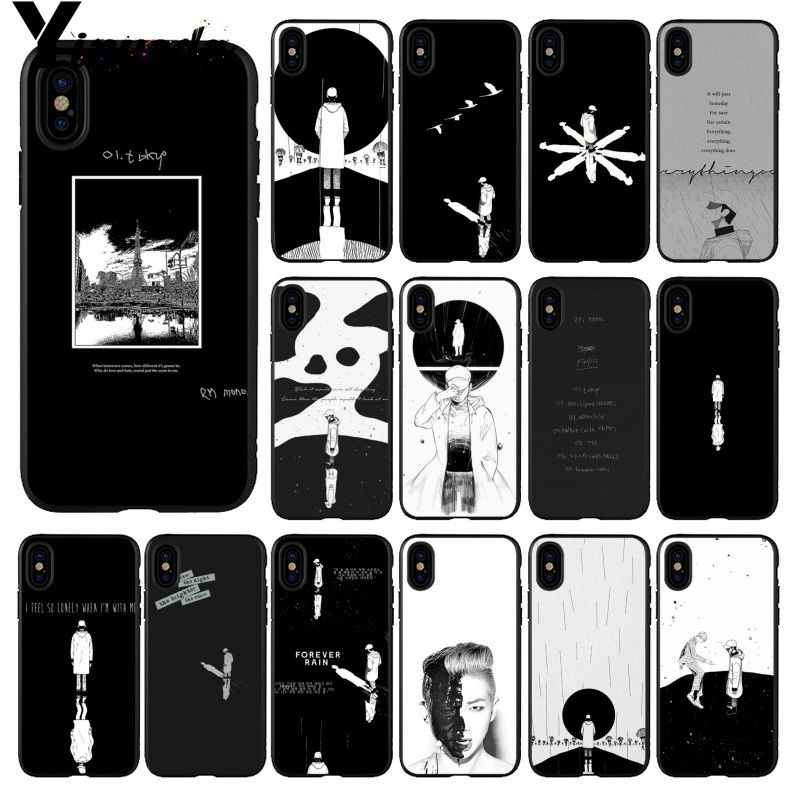 Yinuoda KPOP RM Mono Customer High Quality Phone Case for Apple iPhone 8 7 6 6S Plus X XS MAX 5 5S SE XR Cellphones