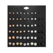 Women's Earrings Set Geometric Crystal Heart Stud Earrings Super value multicolor of Pearl earrings for women Fashion Jewelry pair of stylish faux pearl decorated heart earrings for women