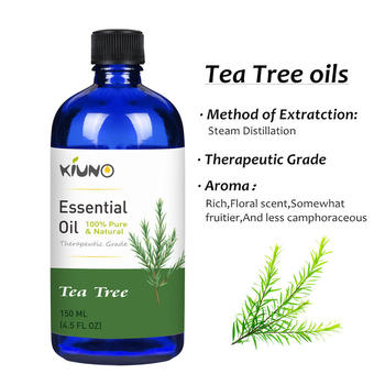 KIUNO 150ML Tea Tree Essential Oils 100% Pure and Natural with Therapeutic Grade,Aromatherapy for Relieve Stress Essential Oil 1