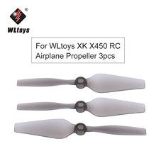 Hélices RC 3 pièces pour WLtoys XK X450 RC, pour avion, hélicoptère, hélice à aile fixe, pièces RC, accessoires