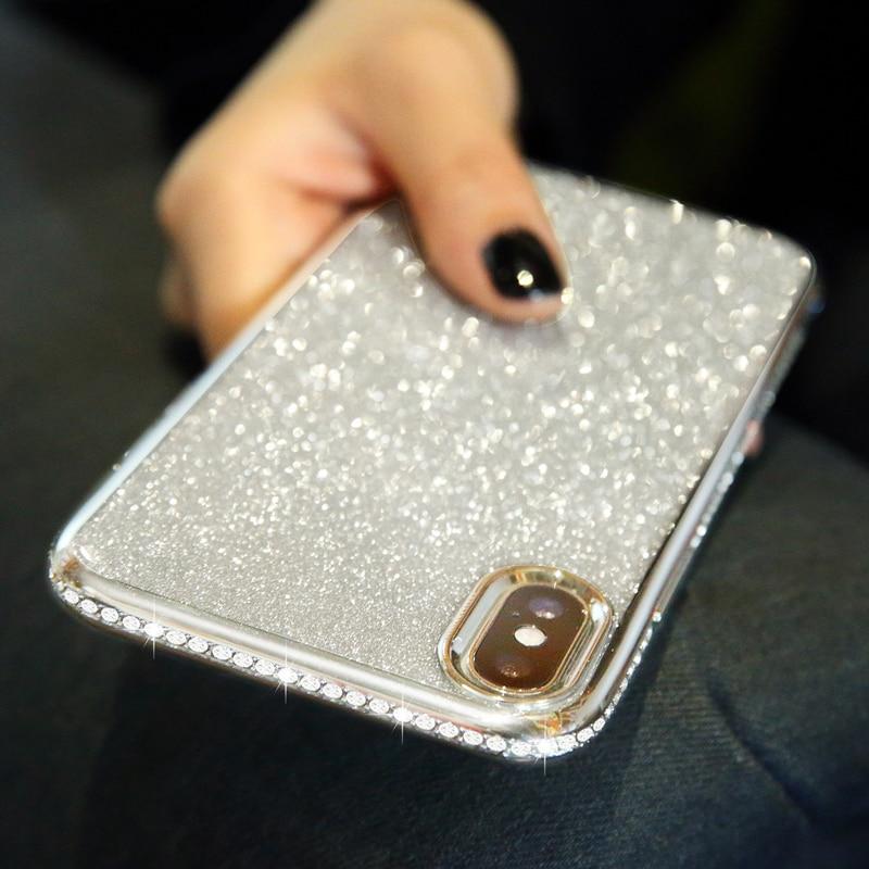 Shiny Bling Diamond Glitter Phone Protective Shell Back Cover for Samsung Models 2