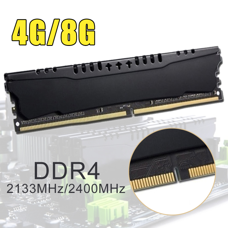 4GB <font><b>8GB</b></font> PC Memory <font><b>RAM</b></font> Module Compatible All Types Desktop Computer <font><b>DDR4</b></font> 2133MHz <font><b>2400Mhz</b></font> 4GB <font><b>8GB</b></font> PC Memory image