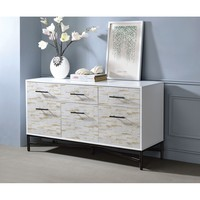 Simple Modern Bedstand Occasional Table Weathered Wood Pattern Storage Drawer Bedroom Furniture Filing Storage Cabinet