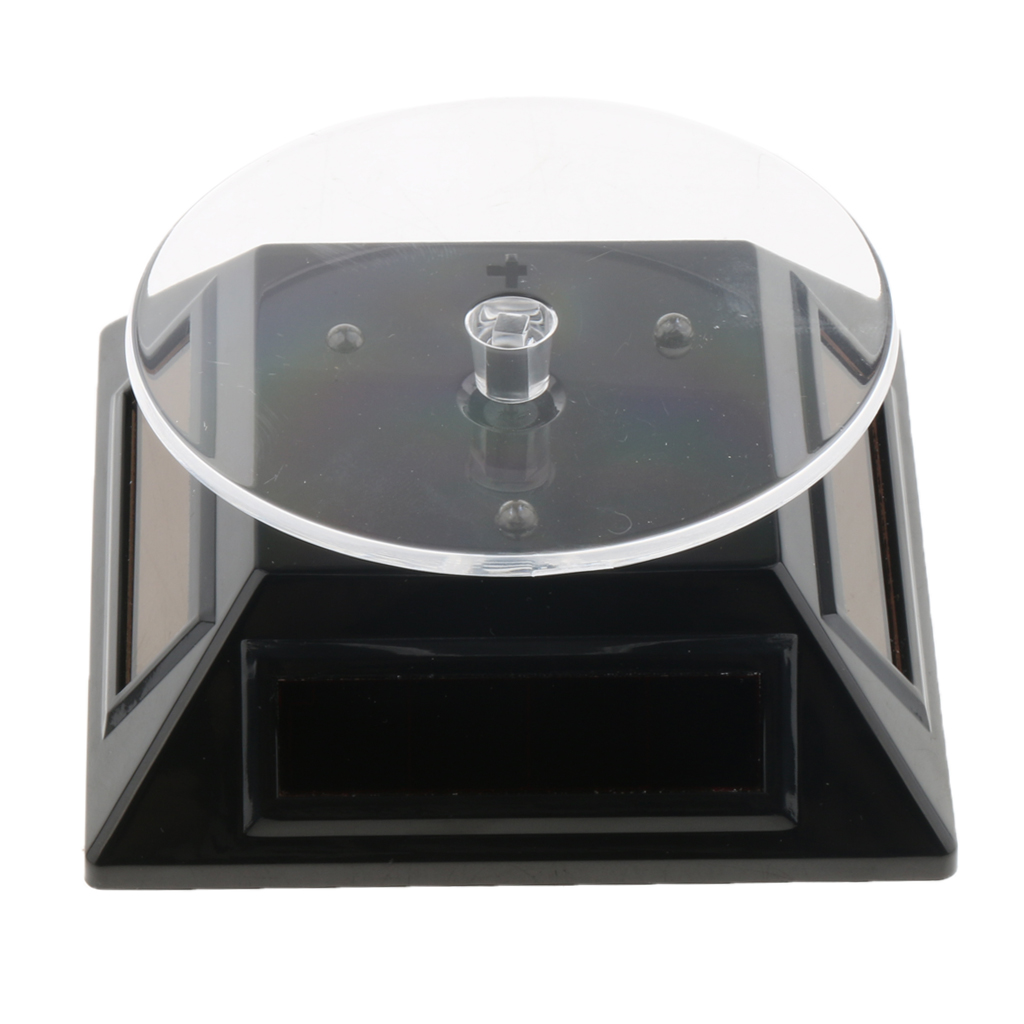 Solar Power Rotating Display Stand Turn Table Plate Jewellery Watche