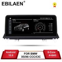 Ebilaen Android 10 Auto Dvd speler Voor Bmw X5 E70/X6 E71 (2007 2013) ccc/Cic Systeem Unit Pc Navigatie Auto Radio Multimedia Ips