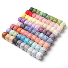 80 DMC цветов, жемчужная хлопковая нить для вышивки, размер 8, нить для вязания крючком, 5 грамм, двойная мерсеризованная Египетский хлопок, 40 метров