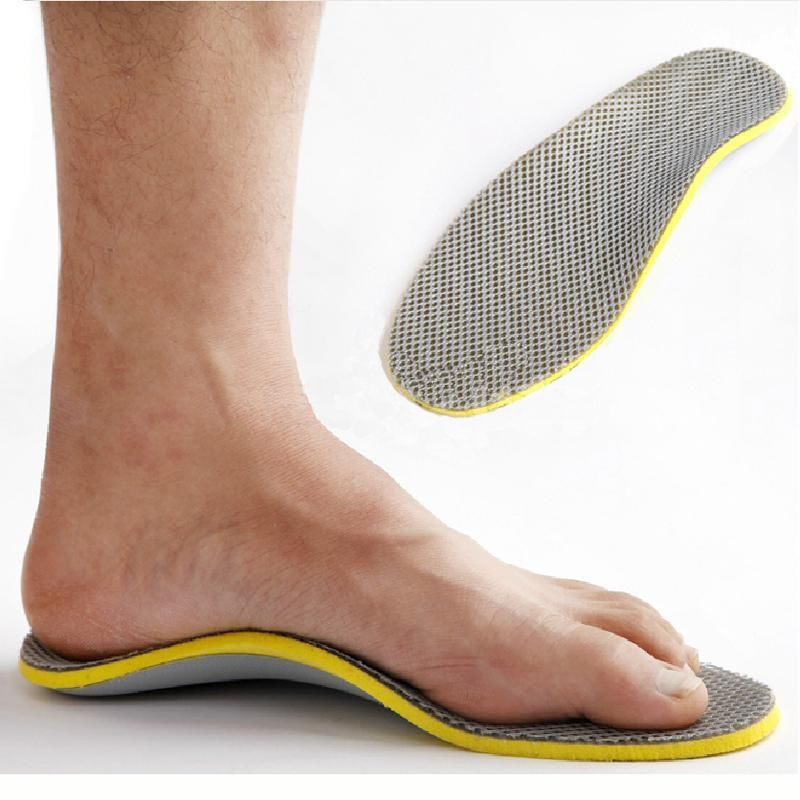Men Orthopedic Insoles 3D Flatfoot Flat Foot s Orthotic Arch Support Insoles High Arch Shoe Pad Insole image