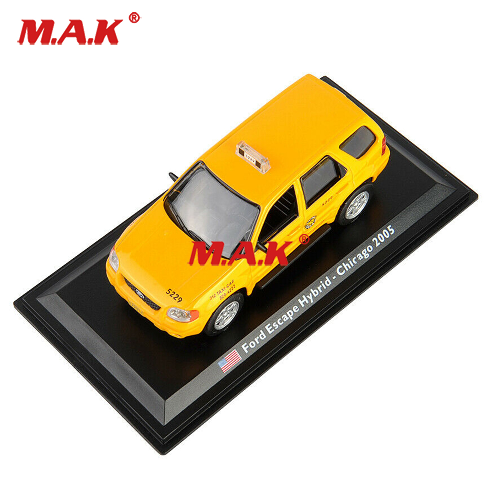 toys for children 1/43 <font><b>Ford</b></font> Taxi Car Escape Hybrid 2005 Diecast <font><b>Model</b></font> Toy Collection Yellow Car <font><b>Model</b></font> Toy cheap kids toys image