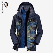 Giacca Uomo Inverno Impermeabile Streetwear Militare Parka Cappotto 2019 Cappotto di marca di grandi dimensioni Mantenere caldo Termico Con cappuccio Antivento Giacca a vento russa di alta qualità Giacca a vento