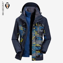 Jas Heren Winter Waterdicht Streetwear Militaire losse parka jas 2019 Big size merk Fleece Warm houden Thermische capuchon Winddicht Hoge kwaliteit Russische sneeuw windjack Blauwe windjack Parka Trench