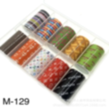 10rolls/box Nail Foil Roll stickers ongles luxe 4*100CM Fashionable 3D Nail Art Stickers Set DIY Acrylic New Design Nail art fashionable oumaxi 12 colors acrylic nail paints for 3d nail art drawings and designs