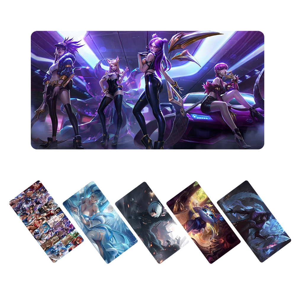 Custom large gaming mouse pad anime LOL KDA sexy girl mousepad xl for League of Legends NieR:Automata