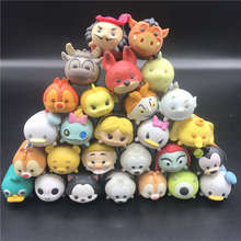 Anime Toys Lot random Cute Mini Minnie Mickey Mouse Winnie Dumbo Figures PVC Dolls For Chirldren Gifts model toy
