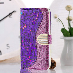 Image 5 - Bling Sequins Leather 360 Protect for Samsung Galaxy A52 5G 2021 Luxury Case Samsung A 52 Flip Cover Card Slot Wallet Shell Etui